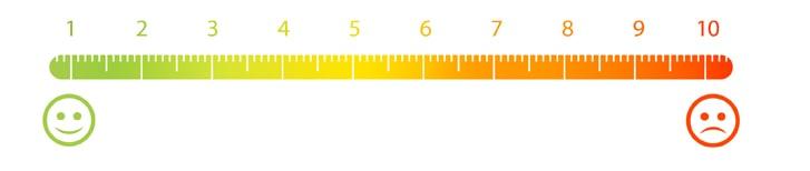Skala numeryczna od 1 do 10